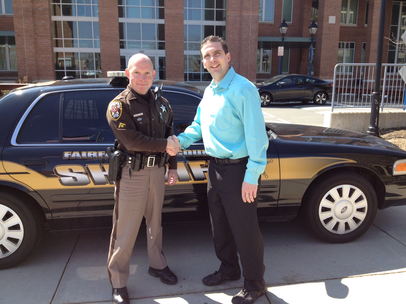 Jon Stehle with Master Deputy Sheriff Thomas